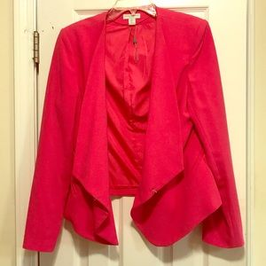 Beautiful lined hot pink blazer